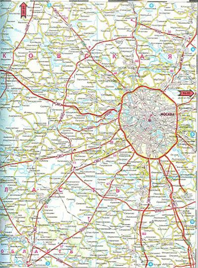 Спутниковая карта московской